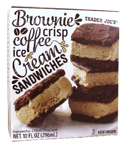 An ice cream sandwich becomes very attractive